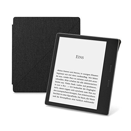 Amazon-Schützhülle aus wasserbeständigem Stoff mit Standfunktion für Kindle Oasis (9. Generation - 2017 Modell), Schwarz