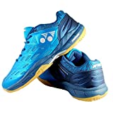 Yonex Non Marking Badminton Court Shoes - Cerulean/Aegean Blue, 7 UK