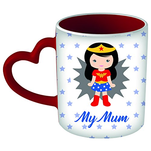 My custom style tazza cuore rossa # super my mum #