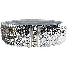 Cebbay Cinturón Ancho de la Mujer Cinturón de Lentejuelas Vintage de Moda  Correa de Hombro Vestido 903797265f59