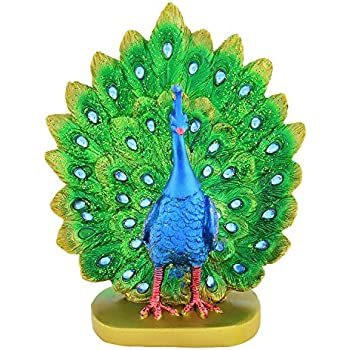 Archies Polyresin Peacock Showpiece (25 cm x 8 cm x 16 cm): Amazon