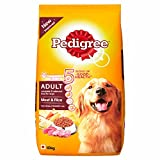 #7: Pedigree Adult Dog Food Meat & Rice, 10 kg Pack