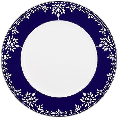 Lenox Marchesa Couture de la placa de cena, Imperio de la perla de color azul