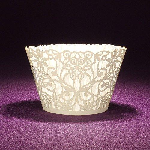 100pcs bigné cupcake casi porta cupcake muffin tazze per nozze baby shower party (bianco), white, 100 pcs
