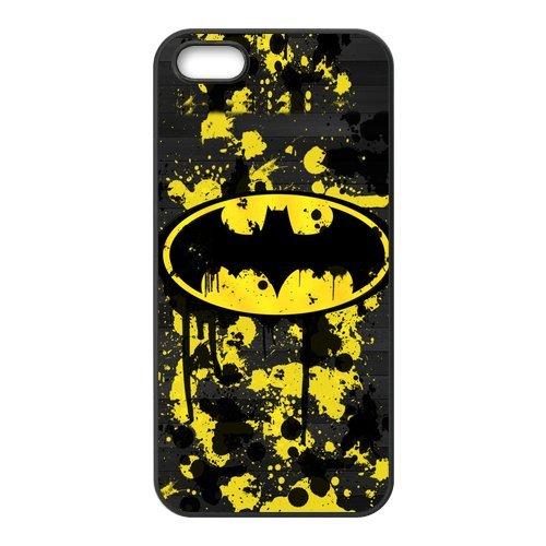 Batman Design Durable TPU Coque de protection pour Apple iPhone 55S, iPhone 5S, iPhone 5/5S Coque Cover Case (Blanc/Noir)