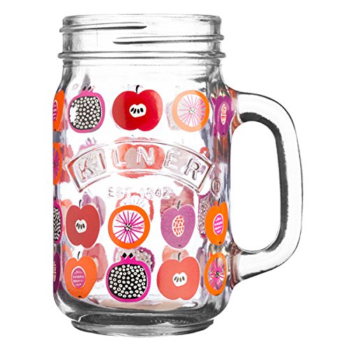 Kilner Behandelt Trinken Jar Fruit Punch 14oz/400 ml – Retro Mason Jar Trinken Gläser, Glaskrüge