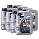 8x LIQUI MOLY 1091 MoS2 Leichtlauf 10W-40 Motoröl 1L