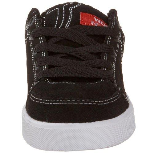 World Industries Win-sho-0253, Chaussures de Skateboard Garçon Multicolore (Noir/Blanc/Rouge)