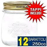 Bormioli - Set di 12 barattoli per Conserve Quattro Stagioni da 0,25 l