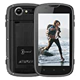 Outdoor Handy Ohne Vertrag, E&L W5S 4zoll Smartphone IP68 imprägniern staubdichtes stoßfestes Android 6.0 Telefon 2800mAh Batterie 1GB RAM+8GB ROM, 480 * 800 Touch Screen 3G Rugged Smartphone