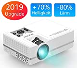 WONNIE Mini LED Beamer, Echte 2400 Lumen, Video Projektor mit 1080P...