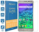 PREMYO verre trempé Samsung Alpha. Film protection Samsung Galaxy Alpha avec un degré de dureté de 9H et des angles arrondis 2,5D. Protection écran Galaxy Alpha