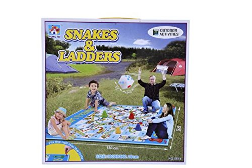 TEENA'S Snakes and Ladders Game For Kids 130CM*93CM OUTDOOR GAME