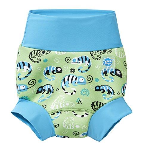 Splash About Unisex-Baby Neue Und Verbesserte Happy Nappy Windel Schwimmen, Green Gecko, 12-24 Monate - Zweck Splash