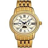 Time W80006G.02A - Reloj para hombres, correa de acero inoxidable color dorado