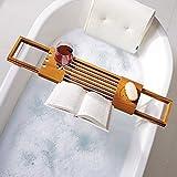 Utoplike Badewanne Caddy aus Teakholz Badewannenablage aus Holz Wasserdicht Schimmel resistent Teak Bathtub Caddy