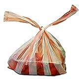 2.000x Hemdchentragetaschen 25+12x45, rot/weiss gestreift geblockt 20x100 Stück | Hemdchen | Einkaufsbeutel in 25+12x45 cm | Plastiktüten | HUTNER