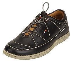 Quarks Mens Black Synthetic Smart Casual Shoes J1126BK-8
