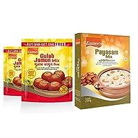 Eastern Sweet Mixes Combo Gulab Jamun-Mix 180g x2 and Payasam-Mix 200g - Pack of 3