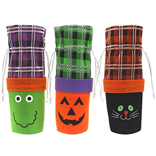 BESTOYARD 3 stücke Kreative Halloween Weinflasche Abdeckung Hexe -