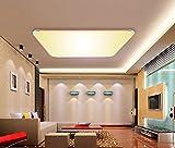 SAILUN 36W Warmweiß Ultraslim LED Deckenleuchte Modern Deckenlampe Flur Wohnzimmer Lampe Schlafzimmer Küche Energie Sparen Licht Wandleuchte Farbe Golden