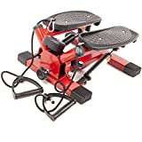 #2: Saving Basket Mini Stepper Exercise Stepper Machine Legs Arms Thigh Toner Toning Machine Workout Training Fitness Stair Steps with Digital Display and Ropes