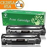 GREENSKY 2 Nero Cartuccia Toner Compatibile Sostitutiva per HP CE285A 85A per HP Laserjet Pro P1102 P1102w P1104 P1104w M1130 M1132 M1132mfp M1134 M1134mfp M1136 M1136mfp M1210 M1210mfp