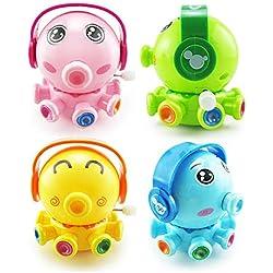 Octopus Reloj de juguete Wind Up Toy Cute Octopus moldeada juguete material respetuoso con el medio ambiente Baby juguete para Inteligencia Desarrollo Color azar