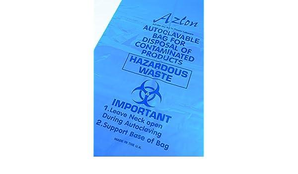 300 x 608 mm Azlon BWY200 Sacco di raccolta per materiale avente rischio biologico