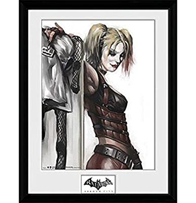 "GB eye Photographie encadrée ""Batman Arkham City, Harley Quinn, multicolore, 16 X 30,5 cm"