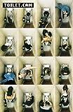 Toilet.Cam Secret Web Cam Humour affiche PaPIER-Poster-mesure 91.5 x 61 cm environ