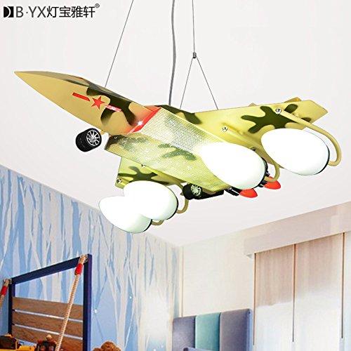 zeug Flugzeug Lichter Schlafzimmer Kinder Zimmer Kronleuchter Boy leuchtet LED Lampen Kronleuchter kreative 70 * 65cm,Camo (Camo Dekorationen)