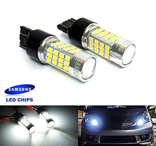 Preisvergleich Produktbild Leuchtmittel Luffy 580 7443 W21 / 5W 582 7440 W21W Samsung 40 W LED,  Standlicht,  Rücklicht,  Blinker,  Tagfahrlicht,  Weiß,  2 Stück
