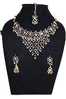 Schmuckset Bollywood Sari Collier+Ohrringe+Tika SH363