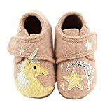 Living Kitzbühel Baby Mädchen Babyklett. Einhorn Hausschuhe, Pink (Woodrose 334), 22 EU