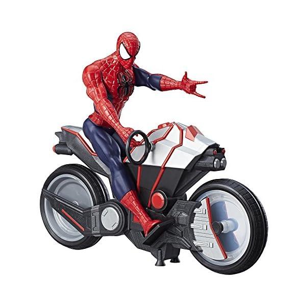 Marvel Spiderman - Figura Spiderman, con vehículo (Hasbro B9767EU4) 2