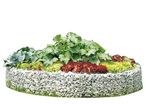 Hochbeet Gabione Gabionen 240 cm Höhe 40 cm Gartendekoration inkl. Trennfolie