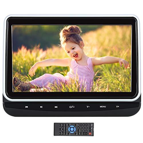 Pumpkin Lecteur DVD Voiture pour Enfant 10,1 Pouce Ecran d'appui tête Soutient USB SD AV Out/AV in,Region Libre avec Support de Montage