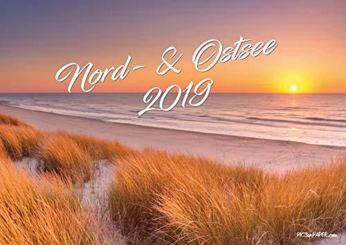 Nord- und Ostsee Kalender 2019 DIN A3, Wandkalender, Bildkalender, Nordsee-Kalender Ostsee-Kalender 2019, Landschaftskalender, Naturkalender, Leuchttürme, Strandkorb Kalender für 2019 (DIN A3)