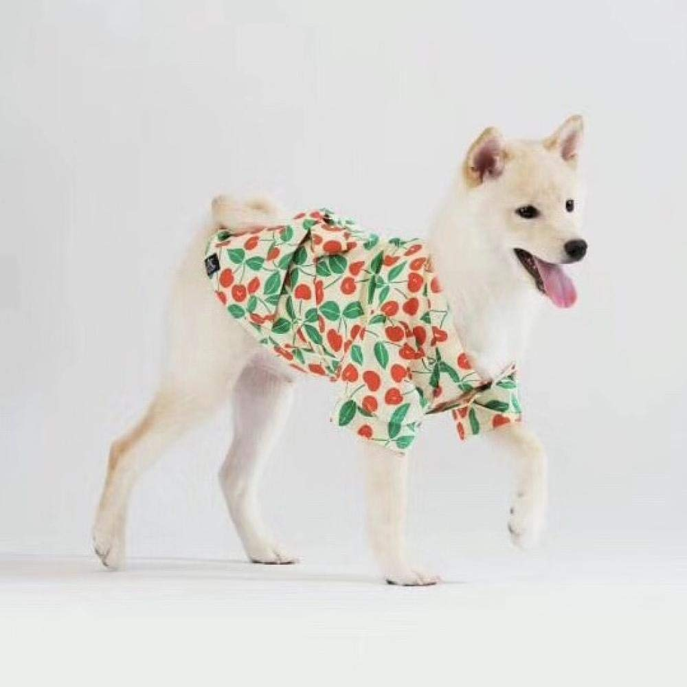 Cherry kimono bow yukata! Korea purchasing pet dog and dog clothing Shiba Inu clothes Baxi small shop@Cherry kimono – spot_XL No. 6-9kg mother wood