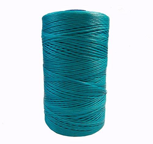 Perlin – 10m Wachsband 1mm Sattlergarn Blau Zirkon Geflochtet 100% Polyester Forellenfäden Nähen Handwerk C300 x2