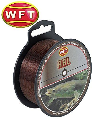 WFT Zielfisch Aal 300m 0,35mm 10,3kg braun - Angelschnur für Aale, Schnur zum Aalangeln, Aalschnur, Monofile Schnüre, Monofilschnur