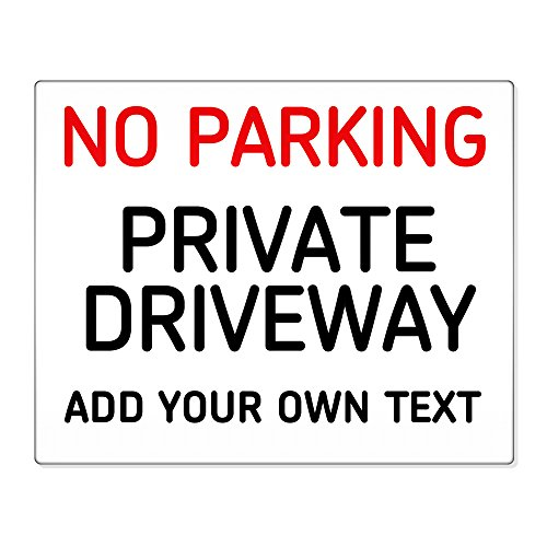 personalised-no-parking-private-driveway-8x10-metal-sign-premises-home-safety-003