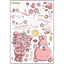 Amazon Fr Stickers Fleurs Roses Multicolore
