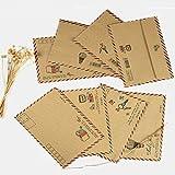 Luftpost-Briefumschläge, 8 Stück Retro Luftpost umschläge,Postkarte Papier Umschlag Geschenk Set für Grußkarte, Reise-Hochzeitseinladung