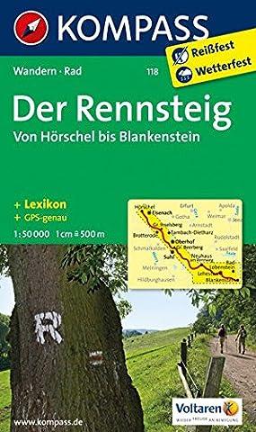 Der Rennsteig - Von Hörschel bis Blankenstein: Wanderkarte mit Kurzführer, Radtouren und Höhenprofil. GPS-genau. 1:50000 (KOMPASS-Wanderkarten, Band (Wolken Atlas)