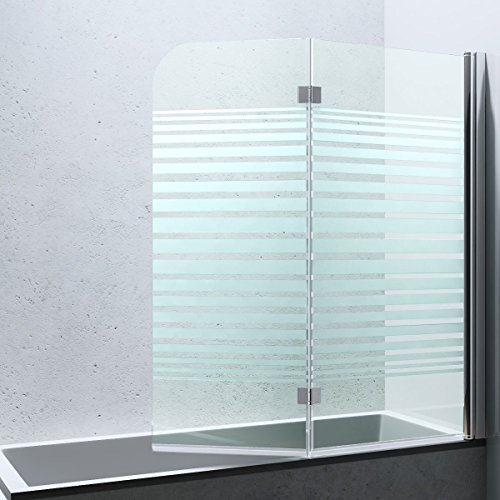 Duschabtrennung / Duschwand für Badewane aus Glas Cortona1408S-rechts, Wandanschlag rechts, inkl. Nanobeschichtung - 4