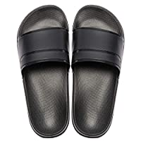 MAYI Dames Slippers Antislip Douche Slippers Zomerslippers, Nieuw Zwart,42/43 EU