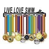 18 Inch Zwemmen Medal Hangers Awards Medaillehouder Rack Medal Display voor Live Liefde Zwemmen Metaal Staal Beste Geschenken voor Honors