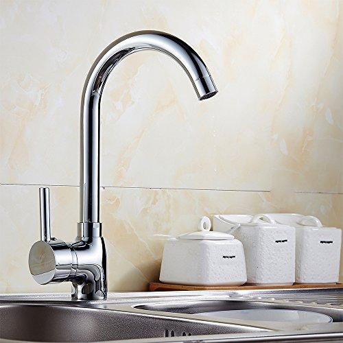 SPEED Einhebelmischer Küchenarmatur Spültisch Armatur Küche Wasserhahn Mischbatterie 190243